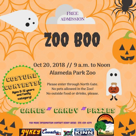 Zoo Boo 2018 Save the Date graphic