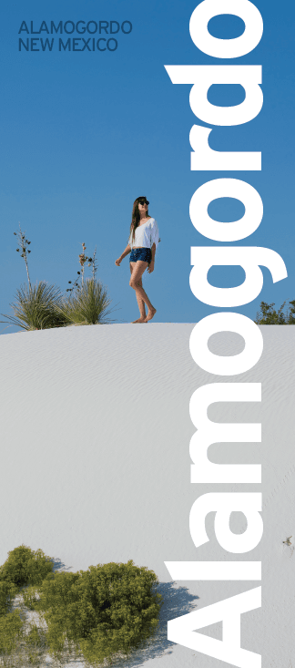 Alamogordo Brochure Cover, White Sands National Monument