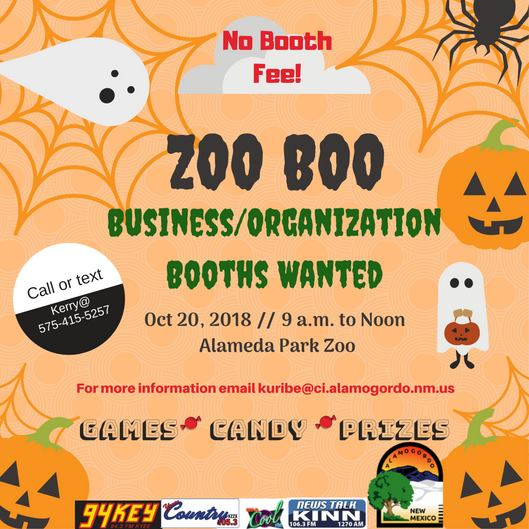 Vendors wanted for Zoo Boo