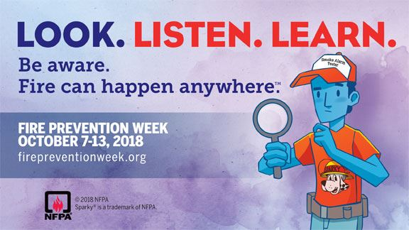 Fire Prevention Week Logo