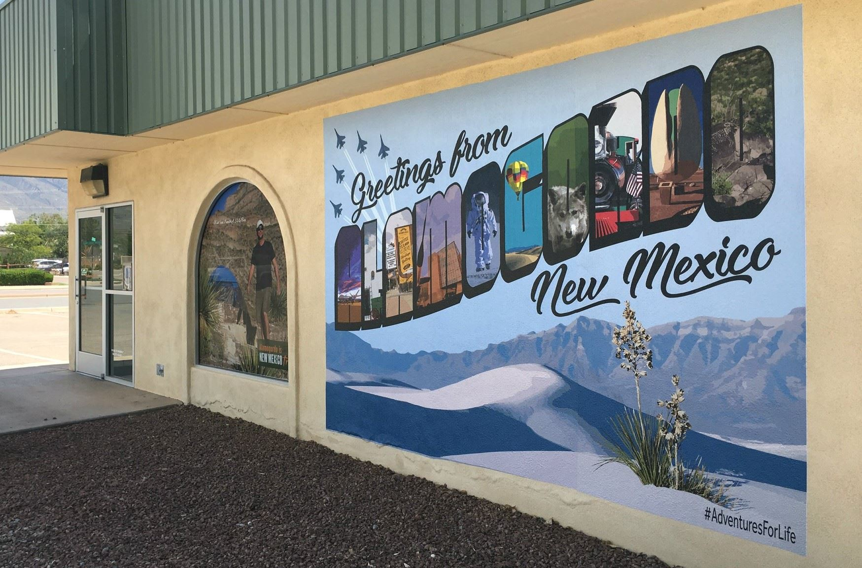 Adventures for life mural Visitor Center