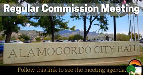 City Commission Regular Meeting image, City Hall in the background