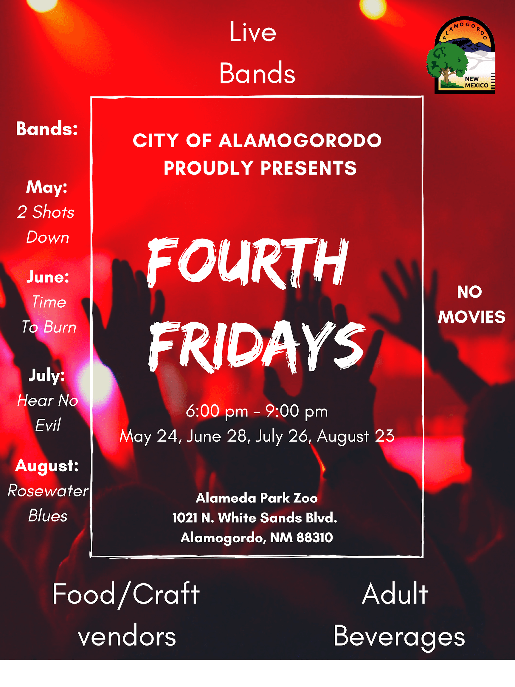 Fourth Fridays schedule for 2019