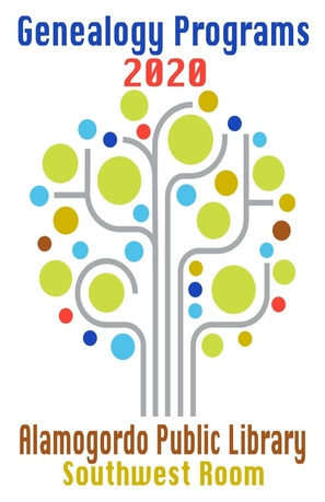 2020 Genealogy programs, digital tree with multi-colored circles