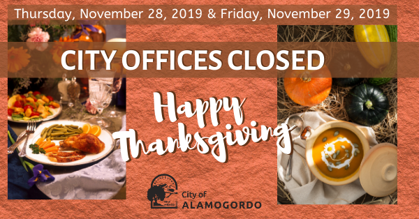 City Offices Closed for Thanksgiving