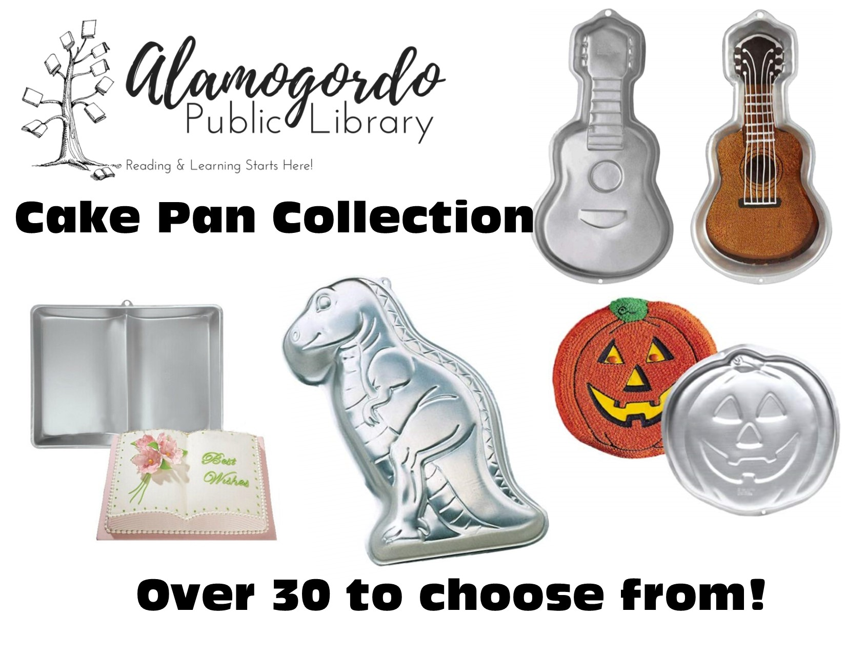 Cake Pan collection at the public library