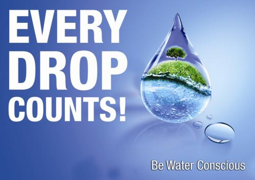 Every Drop Counts Be Water Conscious