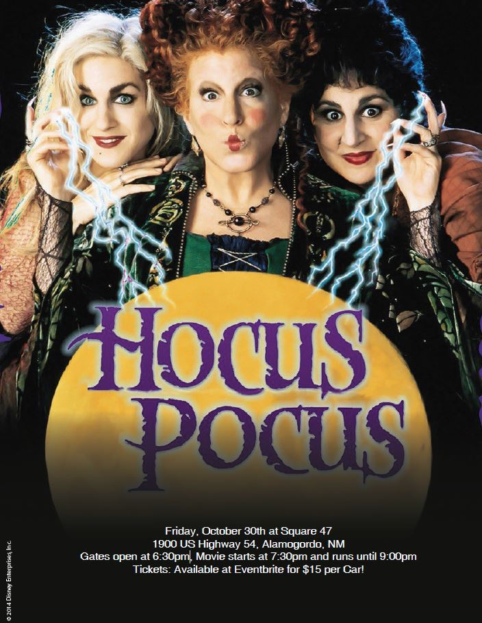 Hocus Pocus Movie Poster with event details