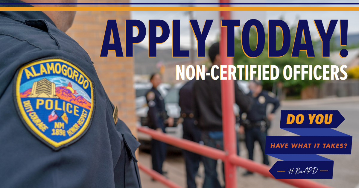 APD Apply Today! Non-Certified Officers