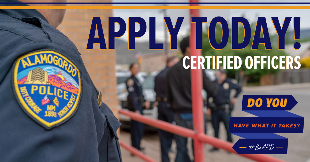 APD Apply Today! Certified Officers