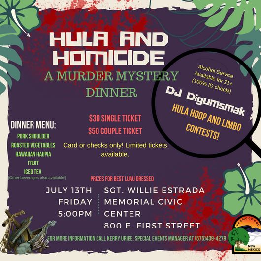 Hula and Homicide-Murder Mystery Event