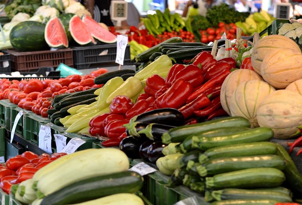 Market Place Vegetables Stand