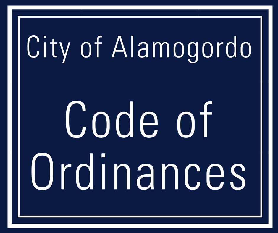 City of Alamogordo Code of Ordinances