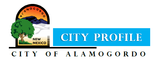 City Profile Header graphic with Alamogordo branding