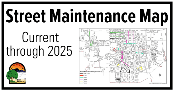 Street Maintenance Plan Map