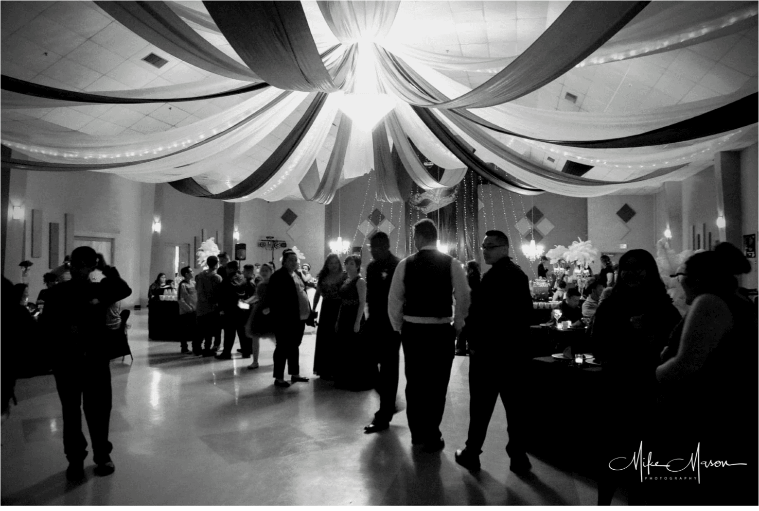 Black and White Party Image