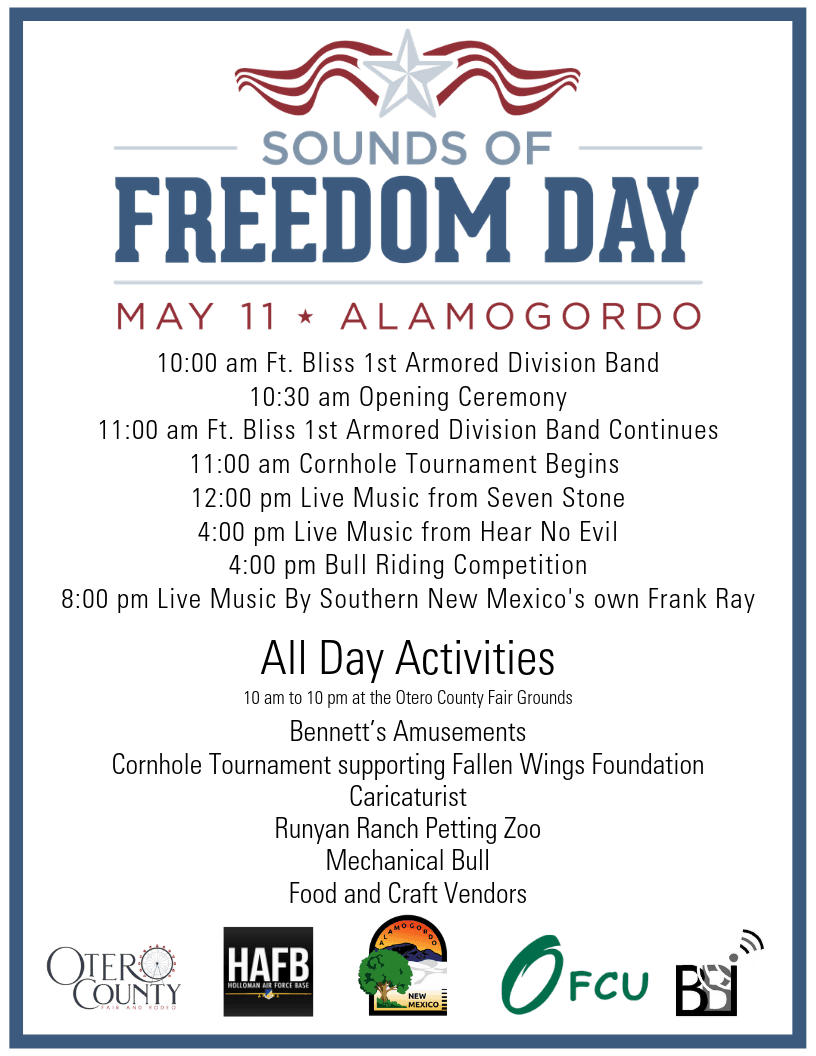 Sounds of Freedom Day Agenda 050919