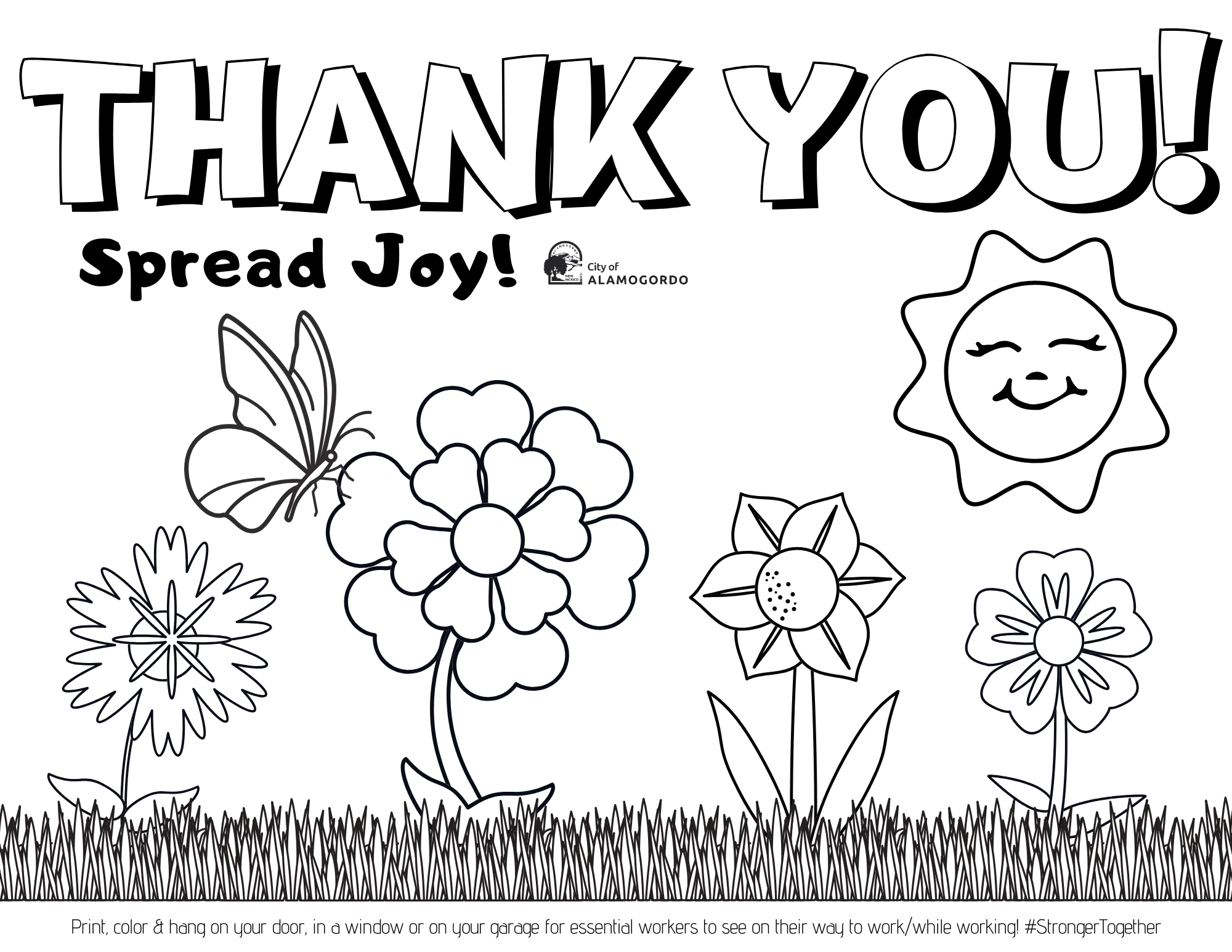 Spring Thank You 1 page