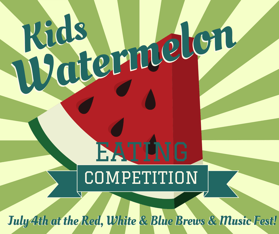 Kids Watermelon Eating Contest Graphic