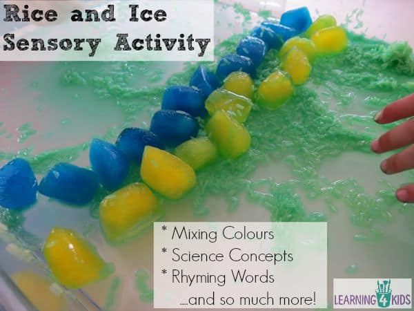 Rice-and-ice-sesnory-activity-mixing-colours-rhyming-words-and-science-concepts Opens in new window